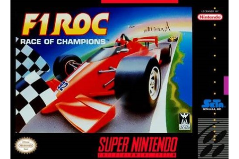 F1 ROC: Race of Champions Super Nintendo Game
