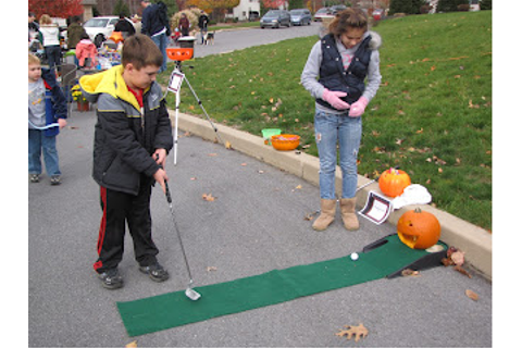 Community Service Halloween Party: Game #2: Pumpkin Golf
