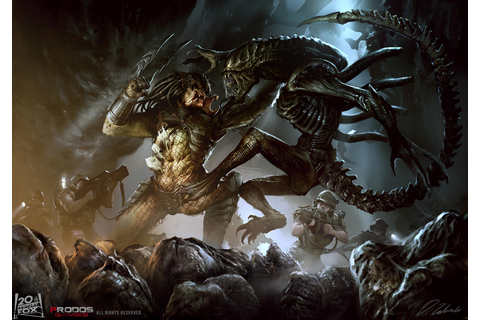 Alien vs Predator by daRoz on DeviantArt