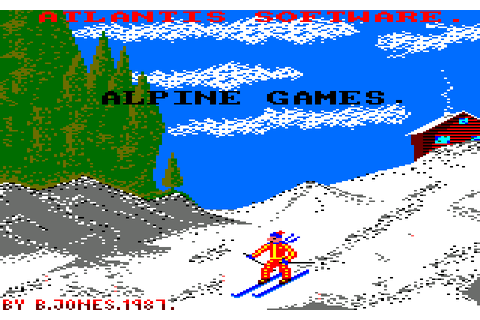 Alpine Games (1987) by Atlantis Software Amstrad CPC game