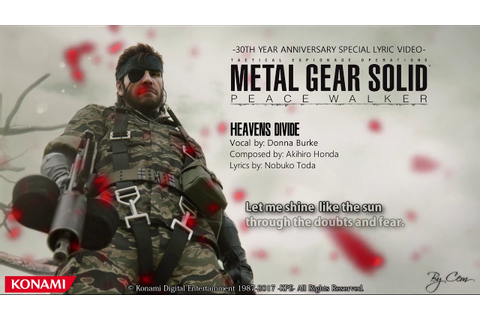Metal Gear Solid : Peace Walker - ''Heavens Divide'' - YouTube