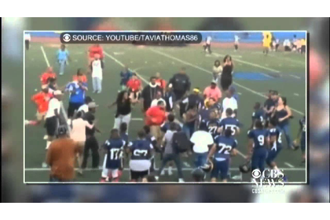 Coaches fight after youth football game - YouTube