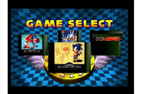 Sonic Jam [Sega Saturn] #2 - Game Menu (Sonic 1,2,3 ...