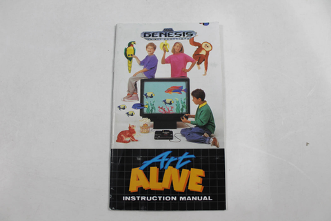 Manual - Art Alive - Sega Genesis