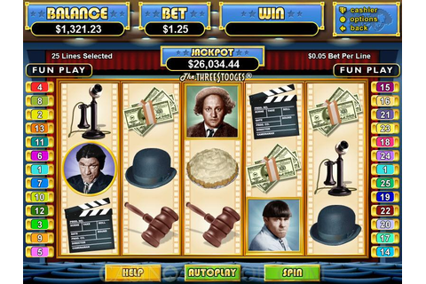 Realtime Gaming The Three Stooges Video Slot Game Review