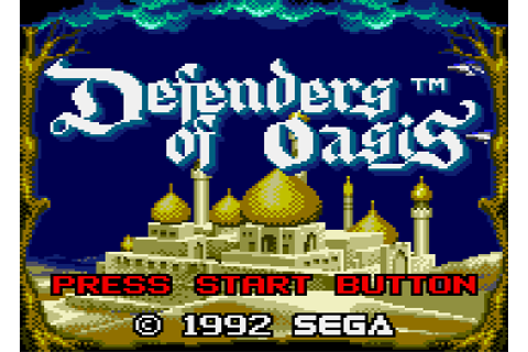 The RPG Consoler: Game #58: Defenders of Oasis (Game Gear ...