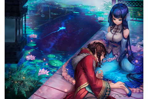 Download 2294x1631 Anime Couple, Merc Storia, Sleeping ...