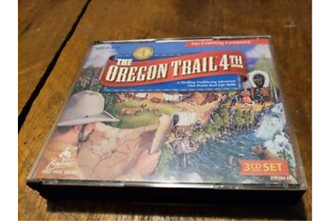 The Oregon Trail: 4th Edition PC Computer Game - 3 CD Set ...