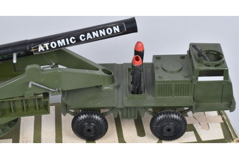 IDEAL ATOMIC CANNON IN ORIGIONAL LONG BOX : Lot 197