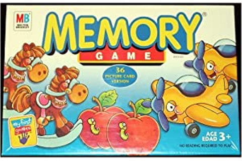 Amazon.com: Milton Bradley Memory Game 36 Picture Card ...