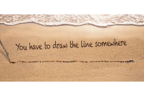 """Drawing A Line In The Sand"" 