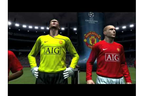 Pro Evolution Soccer 2009 Man United Champions league ...
