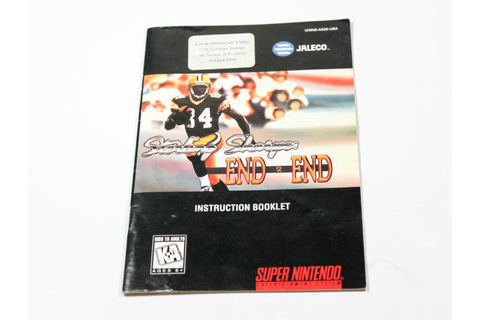 Manual - Sterling Sharpe's End 2 End - Snes Super Nintendo