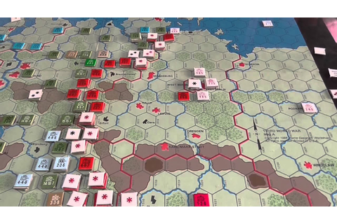 GDW The Third World War - Battle for Germany Turn 1 - YouTube