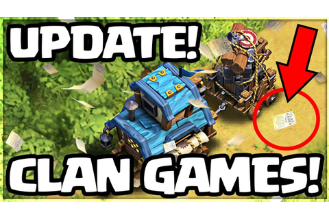 Clash of Clans UPDATE! CLAN GAMES are COMING! - YouTube