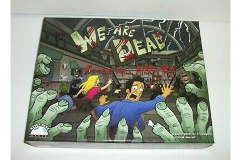 WE ARE DEAD - ZOMBIE MALL MASSACRE BOARD GAME NEW OPEN BOX ...