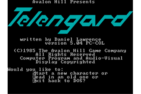 Download Telengard | DOS Games Archive