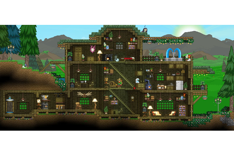 Starbound Cabin House design by RedLace #Starbound # ...