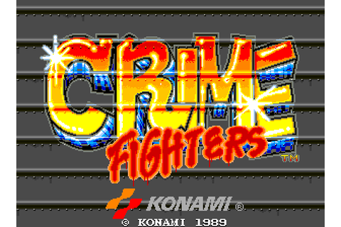 Crime Fighters (1989) Arcade game