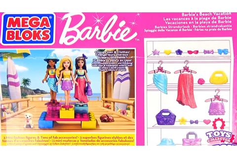 Barbie Beach Vacation | Mega Bloks Barbie Collector ...