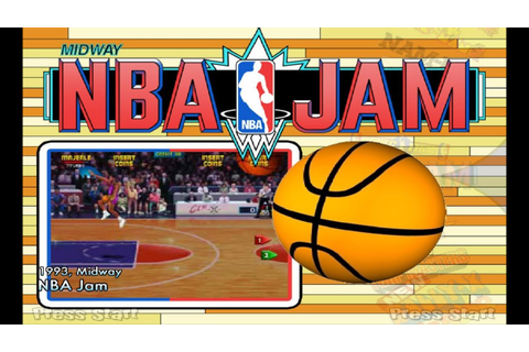 NBA Jam (1993) Midway Mame Retrô Arcade Games - YouTube