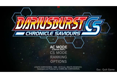 dariusburst EX CHRONICLE SAVIORS arcade MISSION 1-3000 ...