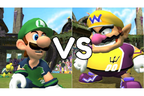 Super Mario Strikers - Luigi vs Wario - GameCube Gameplay ...