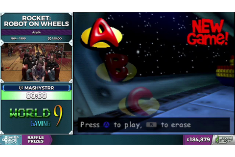 Rocket: Robot on Wheels by mashystrr in 58:48 - AGDQ 2017 ...