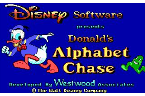 Donald's Alphabet Chase Download (1988 Educational Game)