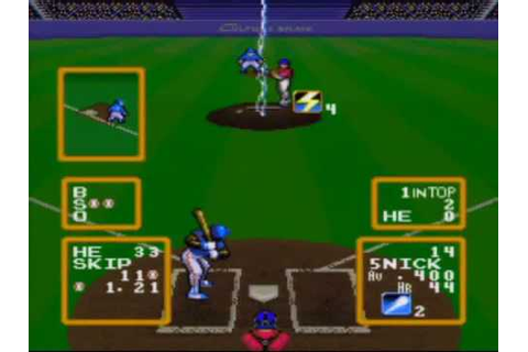 Super Baseball Simulator 1.000 Game Sample - SNES/SFC ...