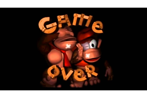 Donkey Kong Country Game Over - YouTube