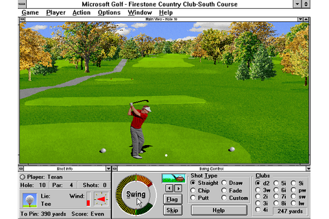 Microsoft Golf 2.0 (1994) by Access Software Win3.1 game