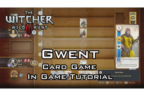 The Witcher 3: Wild Hunt - Gwent: The Card Game - In Game ...