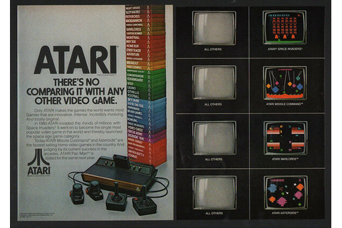 1981 ATARI Video Game System - Asteroids - Space Invaders ...