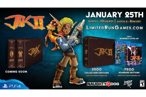 Limited Time Jak II PS4 Discs Will be Available This ...
