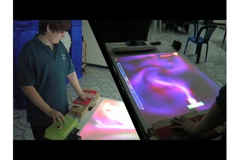 Plasma Pong Table - YouTube