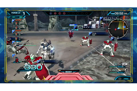 New Mobile Suit Gundam: Extreme VS Force Gameplay Trailer ...