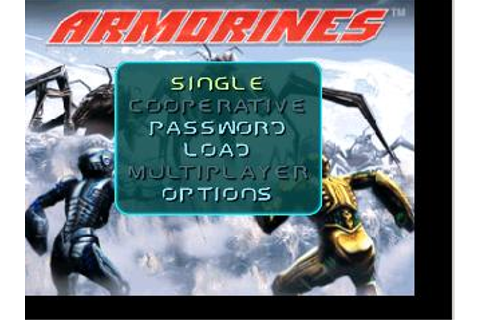 Armorines Project S.W.A.R.M. Nintendo 64 Game