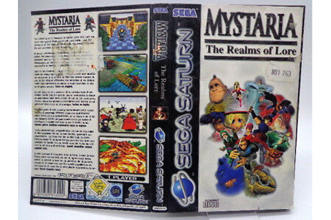 Sega Saturn Game Mystaria: the Realms of Lore (with ...