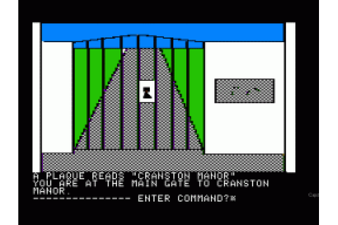 Cranston Manor (1981) by On-Line Systems Apple II E game