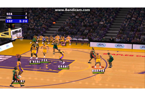 NBA Live 2001 - Lakers VS Sonics - YouTube