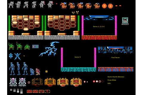 NES - Power Blade - Sector Guards - The Spriters Resource