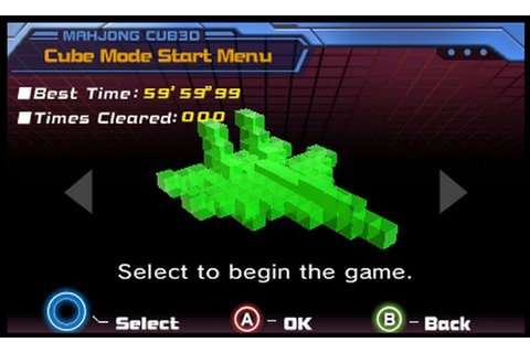 Mahjong Cub3d Review for Nintendo 3DS - Cheat Code Central