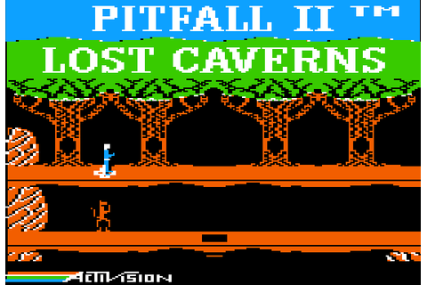 Pitfall II: Lost Caverns (1984) by Microsmiths Apple II E game
