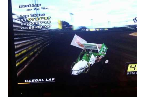 World of outlaws sprint cars 2002 (ps2) funny glitch - YouTube
