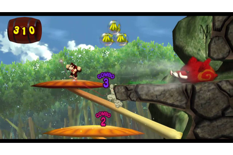 Donkey Kong Jungle Beat Wii Gameplay HD - YouTube