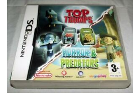 Top Trumps Horror & Predators Nintendo DS 2DS 3DS Game ...