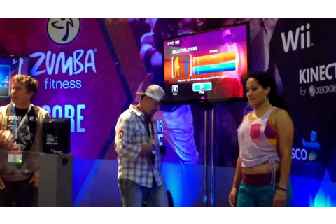 E3 2012 Zumba Fitness Core Xbox 360 Kinect Majesco - YouTube