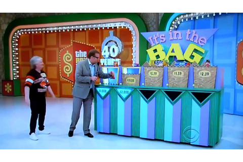 The Price is Right - Its In The Bag - 2/28/2012 - YouTube