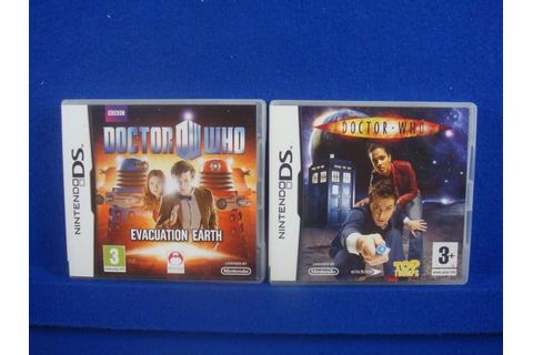 ds DOCTOR WHO x2 Evacuation Earth & And Top Trumps Lite ...